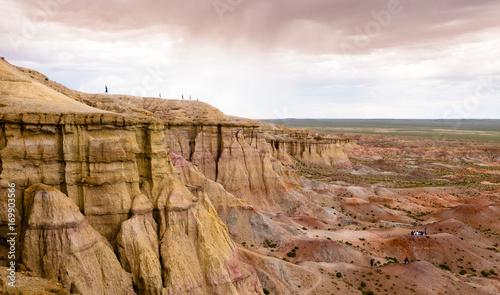 Fotografering  Paesaggio nel deserto del Gobi in Mongolia con i canyon