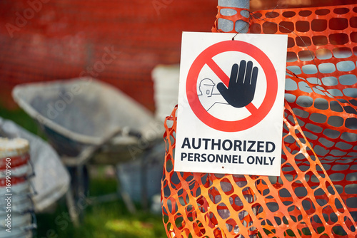 Fotografie, Obraz  Restricted area, Authorized personnel only