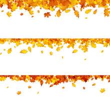 Autumn Banners With Orange Lea...