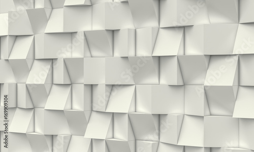 geometric polygonal square 3d background, mosaic with different reliefs in light shades. nobody around, landscape format.