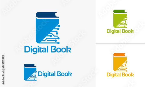Digital Book Logo Designs Electronic Book Logo Online