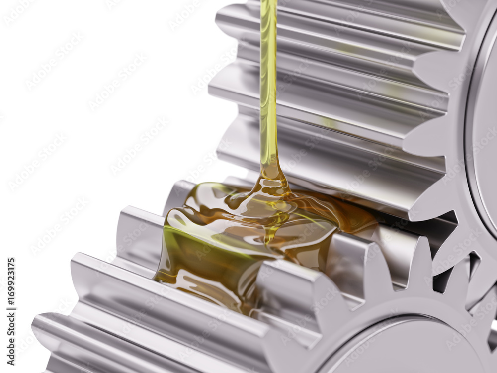 Fototapety, obrazy: Oiling Gears Closeup 3d Illustration
