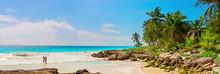 Tropical Sandy Beach On Caribb...