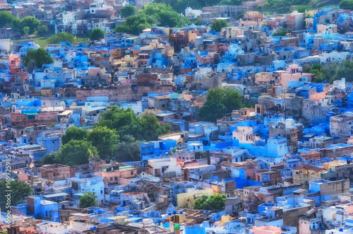 Photo  View of Jodhpur (Blue city).Rajasthan, India