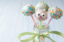 Owl Cake Pops With Multi Color...