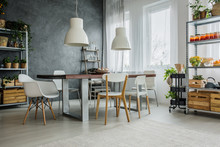 Family Interior With Industria...