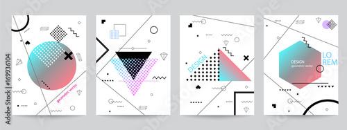 Fotografie, Obraz  Set of minimalist covers design with geometric forms