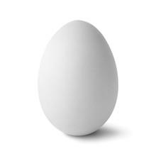 Single  White Egg Isolated On ...