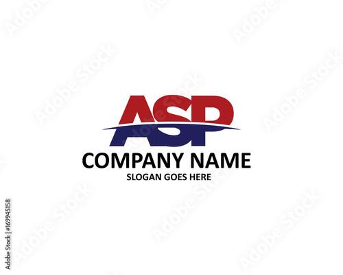 Photo asp letter logo