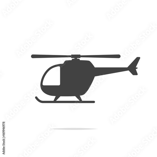 fototapeta na szkło Helicopter icon vector transparent
