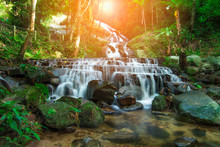 Mae Kampong Waterfall Mea-on Chiangmai Thailand And Very Popular For Photographers And Tourists. Traveling And Recreation.
