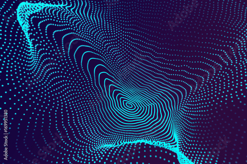 Garden Poster Abstract wave Abstract blue wallpaper