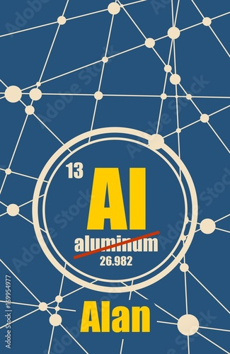 Fotografiet  Alan common male first name instead chemical element Aluminum