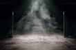 canvas print picture - Grungy dark interior
