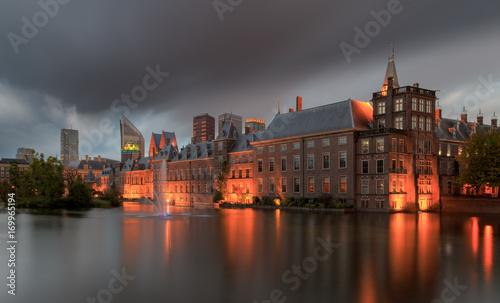 Foto auf Gartenposter Stadt am Wasser The Dutch parliament office in The Hague