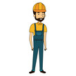 repairman builder avatar character vector illustration design
