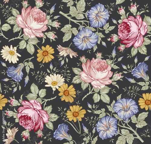bezszwowy-wzor-piekni-rozowi-kwitnacy-realistyczni-odosobneni-kwiaty-rocznika