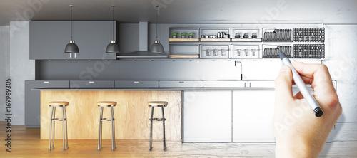 Fototapeta Kitchen plan concept obraz