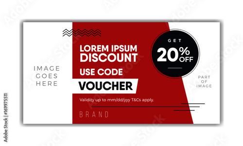 Meal Voucher template, coupon design, ticket, banner. Modern ...