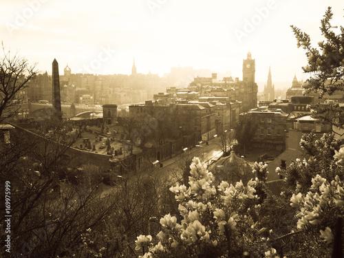 Plakat Widok z Edynburga ze wzgórza Calton