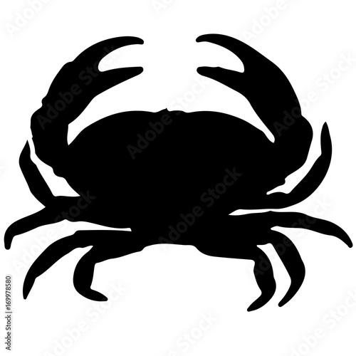 crab silhouette Wallpaper Mural