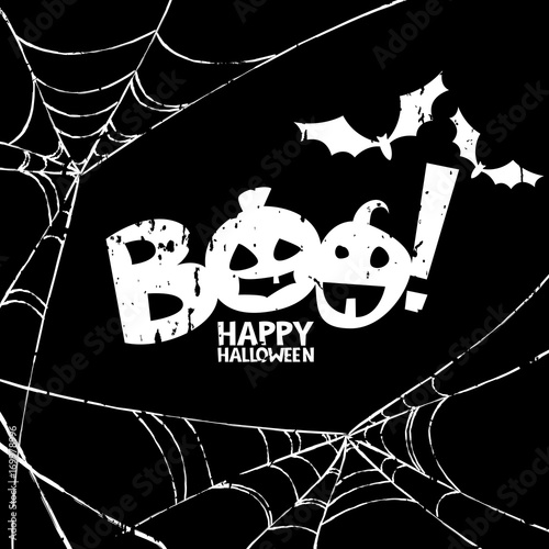 Obraz na plátne Happy Halloween vector design elements
