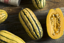 Raw Organic Delicata Squash