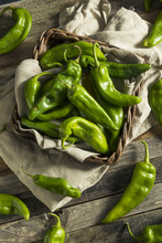 Raw Green Spicy Hatch Peppers