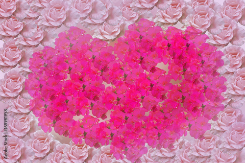 Spoed Foto op Canvas Roze group of flower