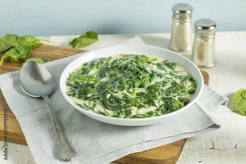 Creamy Homemade Creamed Spinach Canvas Print