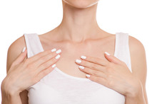 Female Hands Clavicle Isolated