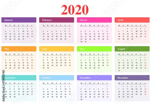 Calendrier 2020 Can.Calendrier 2020 Buy This Stock Illustration And Explore