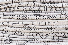 African Textiles At A Market S...