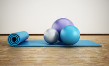 Pilates Mat And Exercise Balls...