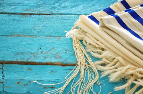 Zdjęcie XXL Modlitwa Szal - Tallit, żydowski symbol religijny