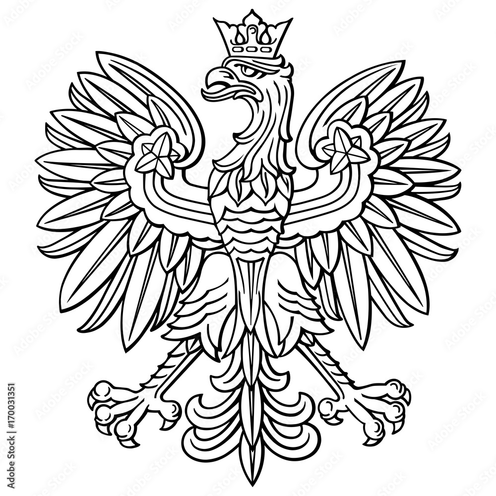 Fototapeta Poland eagle, polish national coat of arm, detailed vector illustration.