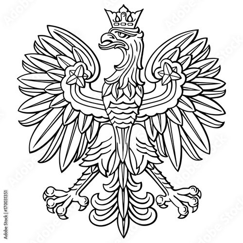 Photo Poland eagle, polish national coat of arm, detailed vector illustration