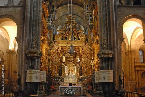 Leinwand Poster Statue des Hl.Jakobus in der Kathedrale, Santiago de Compostela
