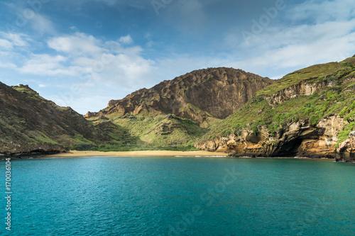 Fotobehang Zuid-Amerika land Bucht von Punta Pitt an der Nordküste von Isla San Cristobal, Galapagos