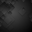 Abstract black tech squares vector background