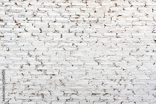 Abstract Background And Texture White Brick Wall For