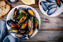 Delicious Seafood Mussels With...
