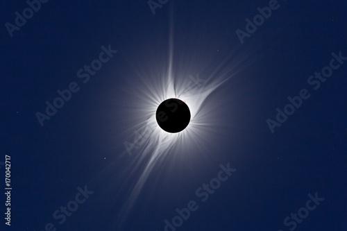 Valokuva  North American Total Solar Eclipse 2017. HDR Corona Composite