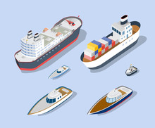 Isometric Models Of Ships, Yac...