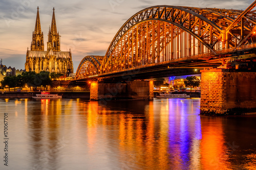 cologne-cathedral-and-hohenzollern-bridge-at-sunset-germany