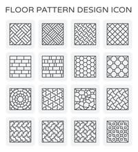 Vector Line Icon Of Floor Patt...