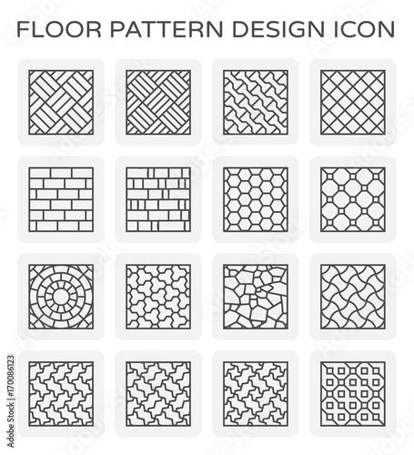 Vector line icon of floor pattern design. - 170086123