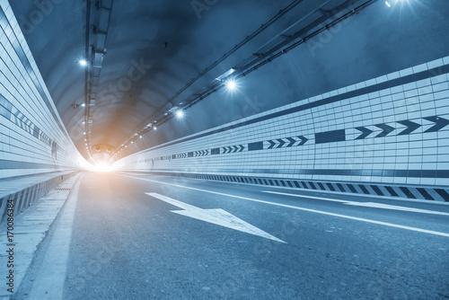 Foto op Plexiglas F1 Car driving on to tunnel.