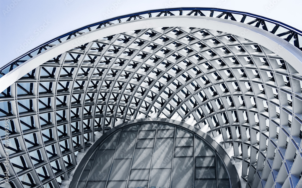 Fototapety, obrazy: Building structures of modern urban architecture close-up.
