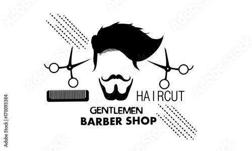 gentlemen, barbershop, scissors, hairstyle, comb, design